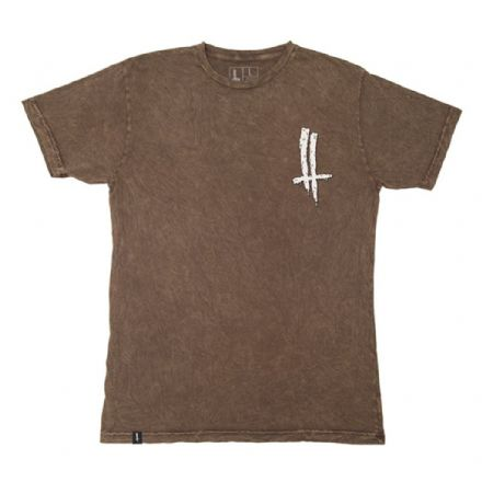 The Trip Mineral Wash Slime Life T-Shirt - Brown Medium